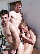 In the hot summer sun Hayden, Liam and Justin tried a little sunbathing; though Justin cant keep his hands off the two str8 guys next to him and is soon feeling them up through their boardies! Justin dives into the lads shorts and pulls out a hard-on in e